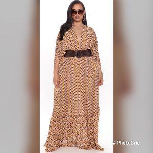 Brand new fashion nova maxi dress